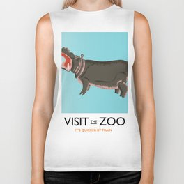 visit the zoo hippopotamus edition Biker Tank