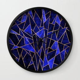 Shattered Sapphire Wall Clock