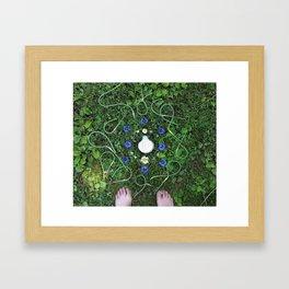 Garlic Scape Mandalla Framed Art Print