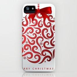Decorative Christmas Ornament Pattern iPhone Case