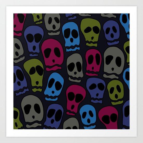Skulls-3 Art Print