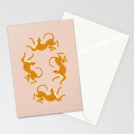 Leopard Race - pink Stationery Cards