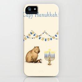 Capy Hanukkah - Capybara and Menorah iPhone Case