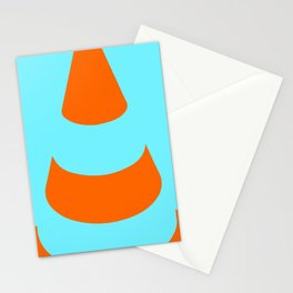 traffic  road cone safety pylon Whitc hat marker Stationery Cards