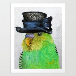 Parakeet Hat Parade #2 Roz Art Print