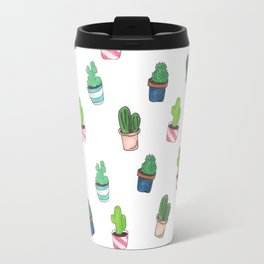 Cacti Abound Watercolor Graphic Print Travel Mug