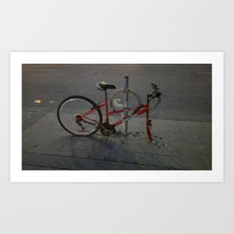 Broken Bike Art Print