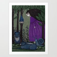 There is a Place in the Woods... Art Print