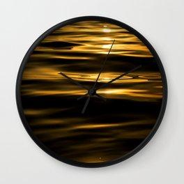 oro liquido Wall Clock