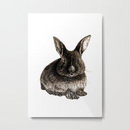 Rabbit Artwork - Hatching Drawing Metal Print
