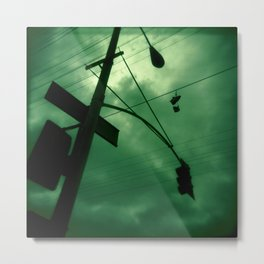 Shoes and Wires Metal Print