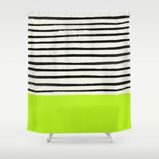 Electric Pineapple x Stripes Shower Curtain