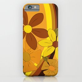 1970s Floral iPhone Case
