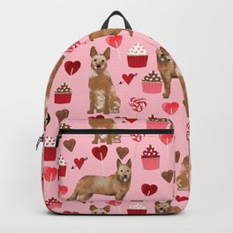 Australian Cattle Dog red heeler valentines day cupcakes hearts love dog breed gifts Backpack