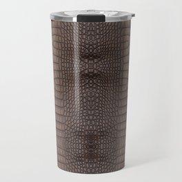 Copper Alligator Print Travel Mug