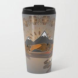Native American Indian Buffalo Nation Metal Travel Mug