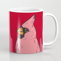 cardinal Mugs featuring Cardinal by turddemon