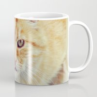 ginger Mugs featuring Ginger by LindaMarieAnson