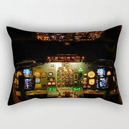 737 Flight Deck Rectangular Pillow