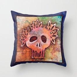 San Francisco Sugar Skull 3 Throw Pillow