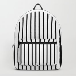 Black Pinstripe On White Pattern Backpack
