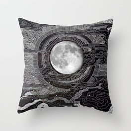Moon Glow Throw Pillow