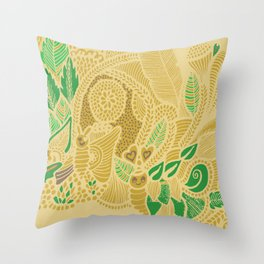 Nature's greens ! Throw Pillow
