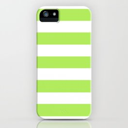Inchworm - solid color - white stripes pattern iPhone Case