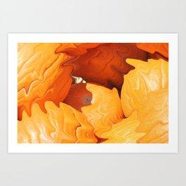 Happy Halloween - Pumpkins Art Print