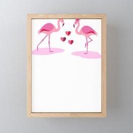 Flamingo Couple Flamingos in Love Framed Mini Art Print