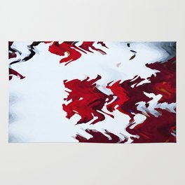 Red Ribbons Rug