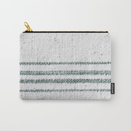 Farmhouse Grain Sack Camp Green Stripes Carry-All Pouch