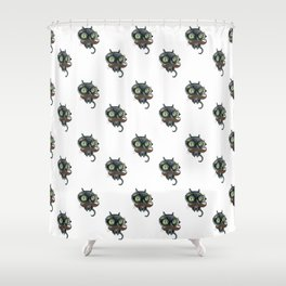 The eYeZ pattern Shower Curtain