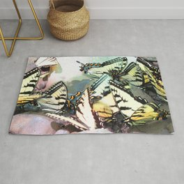 Watercolor Butterfly, Swallowtail Butterfly 05, Cucumber Falls, Pennsylvania Rug