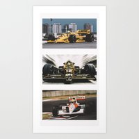 senna Art Prints featuring Senna by Rassva