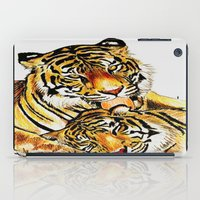 tigers iPad Cases featuring Tigers by DrewzDesignz
