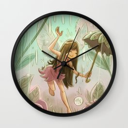 Goblins Drool, Fairies Rule! - Dewdrop Shower Wall Clock