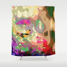 Fluorescent Nature (Painting) Shower Curtain