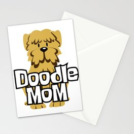 Female Goldendoodle Gift Womens Cute Golden Doodle Mom Print Stationery Cards