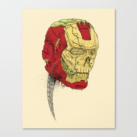 The Death of Iron Man Canvas Print