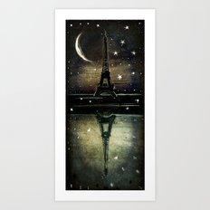 Paris Midnight Art Print
