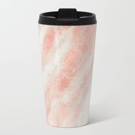 Desert Rose Gold Pink Marble Travel Mug