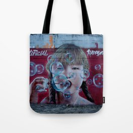 """Artificial Happyness"" Tote Bag"