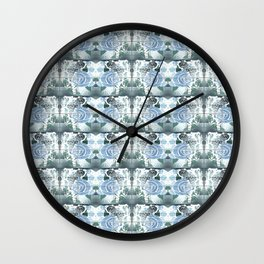 Roses with Bouquets Wall Clock