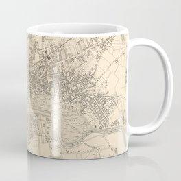 Vintage Map of Glasgow Scotland (1851) Coffee Mug