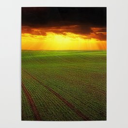 Late Summer New England Sunset Poster