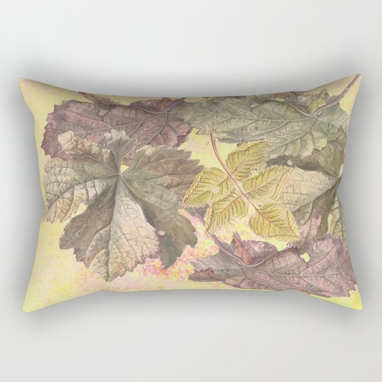 ...among the leaves,  the dew  of old devotions. ' Rectangular Pillow