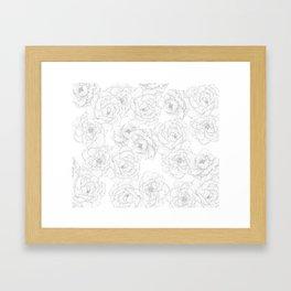Peony Flower Pattern Framed Art Print