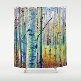 Aspen Trees in the Fall Shower Curtain