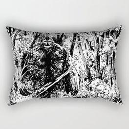 Sasquatch is camouflaged Rectangular Pillow